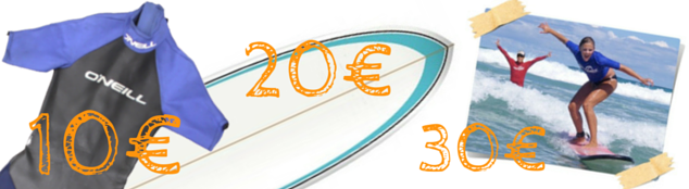 Rental prices for surf material in Tenerife