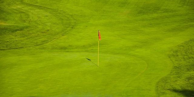 Playing golf in Tenerife
